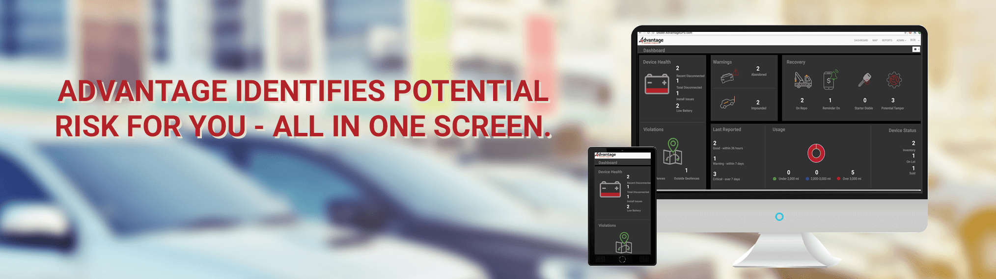 Identify Risks - Dashboard - Advantage GPS